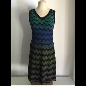Missoni Chevron Knit Sleeveless A Line Dress Sz 38